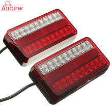 1 Pair 20 LED 12V Tail Light Car Truck Trailer Stop Rear Reverse Auto Turn Indicator Lamp Back Up Led Lights Turn Signal Lamp(China)