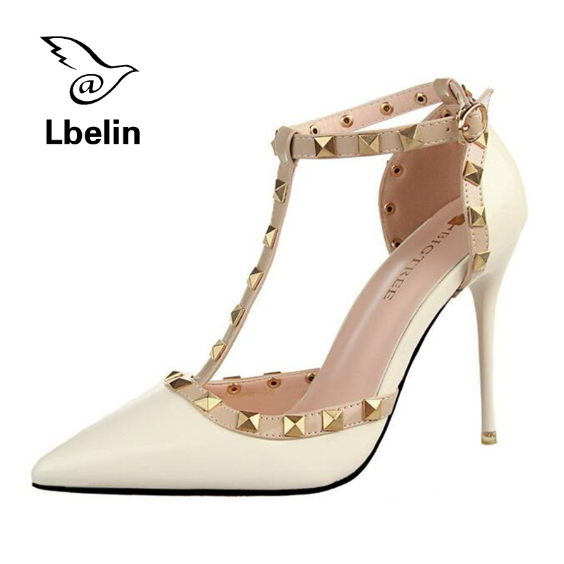 Summer Fashion Women Sandals Ankle Straps High Heels Shoes Red Bottom High Heels 10cm leather Bridal Wedding Shoes Women Pumps<br><br>Aliexpress