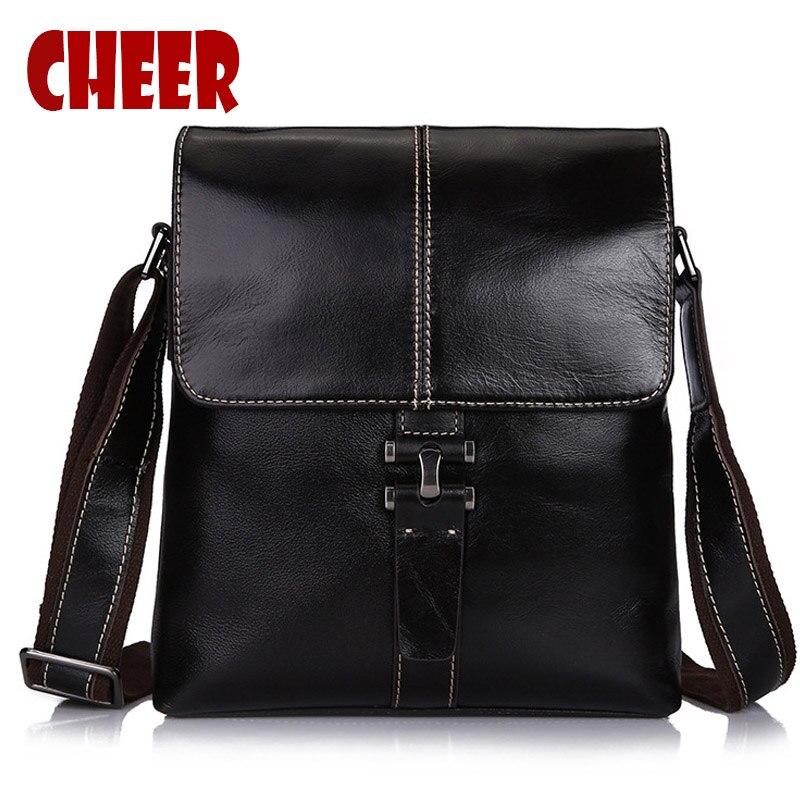 2017 new Men bag shoulder handbags made of genuine leather hand bag designer handbags high quality mens  travel messenger bags<br>