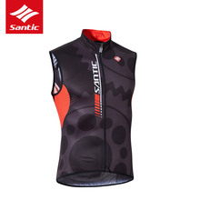 Santic Sleeveless Cycling Jacket Windproof Mens Downhill MTB Wind Jacket Bicycle Bike Cycling Clothes Jacket Ciclismo M7C07023
