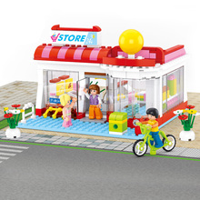 Models building toy 0529 Super Market Pink Dream Girl Friend 289Pcs Building Blocks compatible with lego friends toys & hobbies(China)