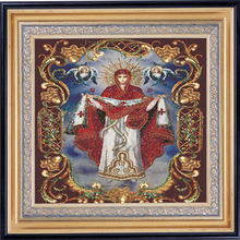 Diamond Embroidery Icons Religious Handmade Painting Diamond Mosaic Portrait Of The Virgin Mary Pictures By Numbers