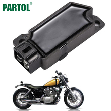 Partol Motorcycle Regulator Rectifier Voltage for Yamaha FZR250 FZR500 FZR600 FZX250 XT600 XV250 Virago DC12V Motorbike Parts(China)