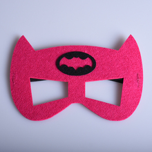 1pc Red Superman Batman Masks Kids Birthday Children's Day Christmas Halloween Festival Party Cosplay Decor Supplies Xmas Gift(China)