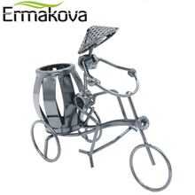 ERMAKOVA Metal Tricycle Model Retro Bike Model Statue Pencil Cup Antique Bicycle Pen Container Holder Home Office Decor