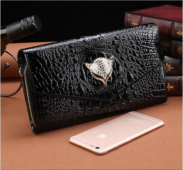 2017 luxury crocodile genuine leather women purse and handbag envelope bag ladies evening clutch chain messenger shoulder bag<br>