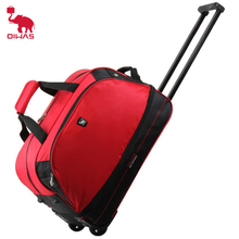OIWAS OCL8001 56L Rolling Luggage Trolley Travel Bags Large Package Suitcase Waterproof Foldable Scalable Zipper Rubber Wheel(China)