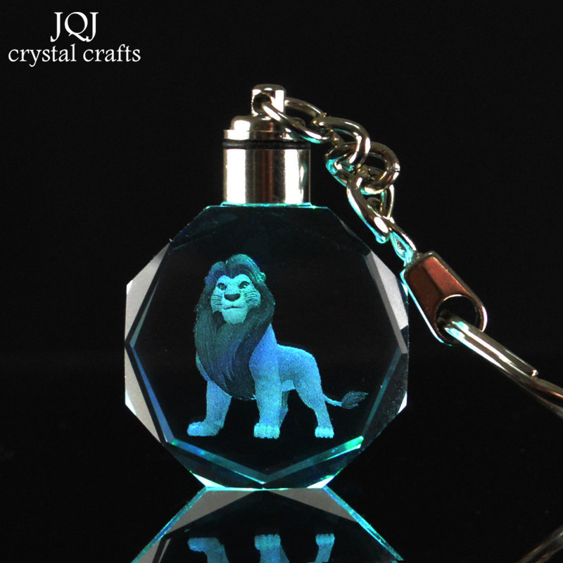 1-Piece-Laser-Engraved-Cartoon-The-Lion-King-Crystal-Miniature-Keychain-With-Changing-Colors-Light-For (2)