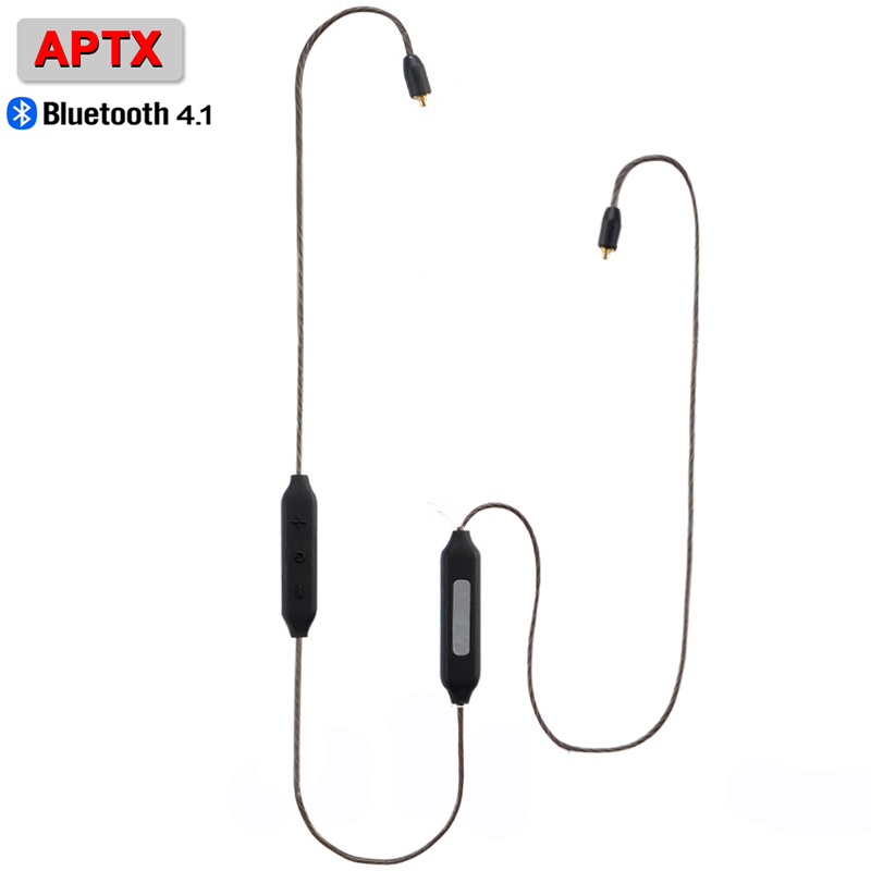 PIZEN BT1 Wireless Bluetooth HIFI Earphone MMCX Cable Support Apt-X Aptx Use For shure se215 se846 UE for kz zs6 zs5 earhook box<br>