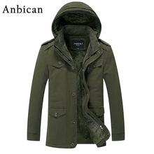 Anbican 2016 Winter Men's Casual Jacket Thicken Fleece Cotton Army Military Men Hooded Warm Coat Plus Size 4XL 5XL 6XL - Official Store store