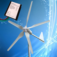 1000W 24V Household Wind Power Generator with 5PCS Blades + 1000W 24V Wind Generator Charge Controller, CE Certificate(China)