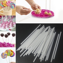 Hot 100Pcs Pop Sucker Stick Food-grade Plastic Lolly Lollipop Candy Chocolate DIY Modelling Mould Stand Wedding Decorating Tools(China)