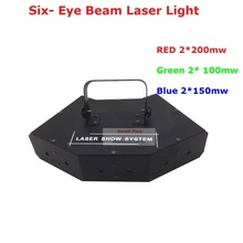 Factory Price Newest Stage Laser Light RGB Full Color Six- Eye Beam Laser Cight Club DJ Disco Laser Light Projector New Design