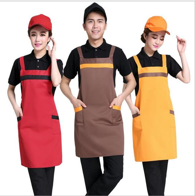New Arrival Hotel Waiter Catering Work A Man Halterneck Sleeveless With Pockets Kitchen Cooking