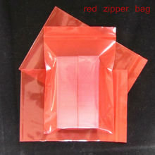 100pcs/lot Red color Self Sealing Plastic Bags,ziplock poly bags zipper bags free shipping(China)