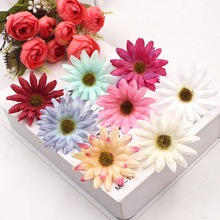 10pcs 5.5cm Artificial Silk Chrysanthemum Little Daisy DIY Wreath Collage Wedding Home Decoration Craft Fake Flower Head(China)