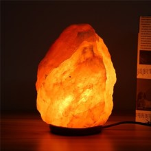 Night Light Himalayan Salt Lamp Natural Crystal Glow Hand Carved Night Lamps For Bedroom E14 Bulb With Dimmer/On Off Switch