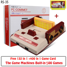 Hot Sale Classic 8 Bit Family TV Video Game Console Nostalgia FCompact Game Player Free Game Card jeux juegos With Retail Box(China)