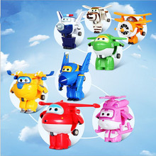 Hot Sale Mini Deformation Robot Super Wings Airplane Model Toys Action Figures Superwings Toys for Children Birth Christmas Gift
