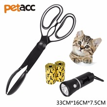 Petacc 3PCS Serrated Teeth Scooper Flashlight and Garbage Bags Cleaning Garden Pet cat Litter Shovel Tool Litter Scoop(China)