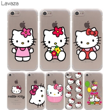Lavaza hello kitty Cover Case for iPhone X 10 8 7 Plus 6 6S Plus 5 5S SE 5C 4 4S Cases(China)
