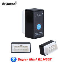 Mini ELM327 Bluetooth V2.1 with Switch ODB2 ODBII OBD II ELM 327 Bluetooth Tester Car Auto Diagnostic Scan Tool Torque Android