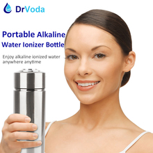 Portable Alkaline Water Ionizer 304 Stainless Bottle Energy Ionized Alkaline Water Flask alkaline pH bottle Travel Size camping(China)