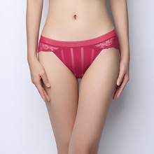 Buy Bud silk popular Women's Panties Ma'am Lace Sexy Underpants waist non-trace Briefs