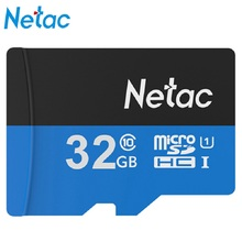 Original Netac Micro SD Card UHS -I Flash Memory Card 32GB TF Card High Speed Storage Device for Cellphone Mobile Devices Camera