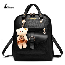 Pu Leather School Bags For Teenage Girls Mochila Feminina Ladies Beautiful Backpack Female Fashion Knapsack Women Tide Rucksack