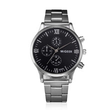 Buy MIGEER Fashion Man Crystal Stainless Steel Analog Quartz Wrist Watch relogio-masculino clock men sport watches male clocks for $2.42 in AliExpress store