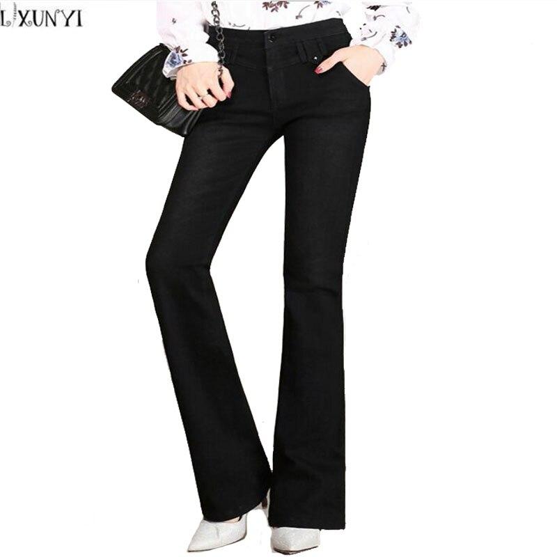 Autumn Women jeans Brand 2017 High Waist flare Pants Stretch PluS Size Slim Female Pants Fashion Casual Denim Trousers WomanОдежда и ак�е��уары<br><br><br>Aliexpress
