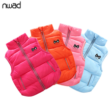 NWAD Baby Girls Vests Outerwear Children Clothing 2017 Autumn Winter Cotton Newborn Boys Coats Warm Kids Waistcoats FG010