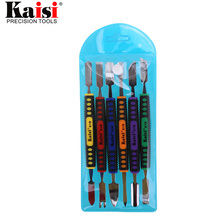 Kaisi Flexible 6pcs Dual Ends Metal Spudger Set Prying Opening Repair Tool Kit for iPhone iPad Tablet Mobile Phone