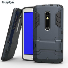 WolfRule Case For Moto X Play Case XT1563 2015 Shockproof Silicone Plastic Holder For Motorola Cover For Moto X Play Case <
