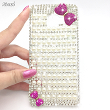 Bling Case Diamond Case for Sony Xperia Z L36H C6602 C6603 Phone Capa Para L36h Fundas Capinhas Clear Crystal Cover Butterfly(China)