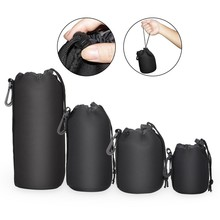 Waterproof Padded Protector Camera Lens Bag Case for Canon Nikon Pentax Sony Olympus Panasonic any model of Lens size S M L XL(China)