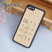 MaiYaCa Stylish Fashion Yoga Sun Salutation Soft Rubber cell phone Case Cover for iPhone 5 5S SE phone cover shell(China)