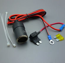 Motorcycle Marine Cigarette Lighter 12 V Accessory Socket Outlet + fuse+ cable(China)