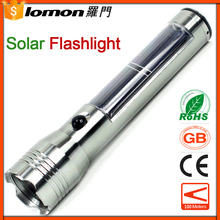 LED Solar Flashlight CREE L2 Strong Light Rechargeable Flash Light High Power Waterproof Torch Camping Hiking Fishing Lamp