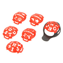 Red Golf Ball Line Liner Marker Template Mark Putting Alignment Tool Golfer