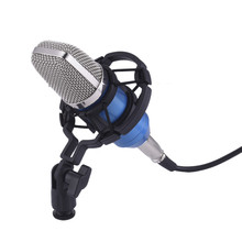 2pcs Professional Studio Broadcasting BM-700 Condenser Sound Studio Recording Broadcasting Microphone + Shock Mount Holder black