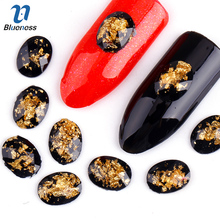 Blueness 10Pcs/lot 3D Nails Art Decorations Nail Gel Studs Round Black Resin Drill Acrylic DIY Accessories For Manicure PJ186(China)