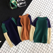 2-7years 2017 Kids childrens casual green brown navy Knit Sweater ( pick color size )(China)