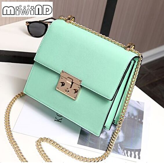 Spring and summer new fashion candy color sweet and lovely chain shoulder diagonal bag,women lady girls crossbody messenger bags<br>