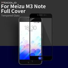 100% Original Mocolo brand Top quality full cover  Screen Protector Tempered Glass Film for meizu m3 note 0.33mm  in stock