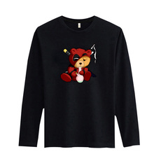 Frdun Tommy Smoking Teddy In Deadpool Cotton T-shirt Women/Men Summer Fashion Tee Shirt Casual 4 Color High Quality Tshirt(China)