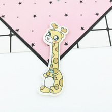 12 Pieces/Lot Cartoon Giraffe Rabbit Brooch Pins Acrylic Animal Badges Ice Cream Food Badge Women/Men Jewelry Backpack Accessory