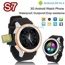 ZGPAX S7 GSM 3G Android 4.4 Smart Watch Phone Dual Core Three-anti Waterproof Dust-proof Drop-resistance GPS WiFi Bluetooth Cam