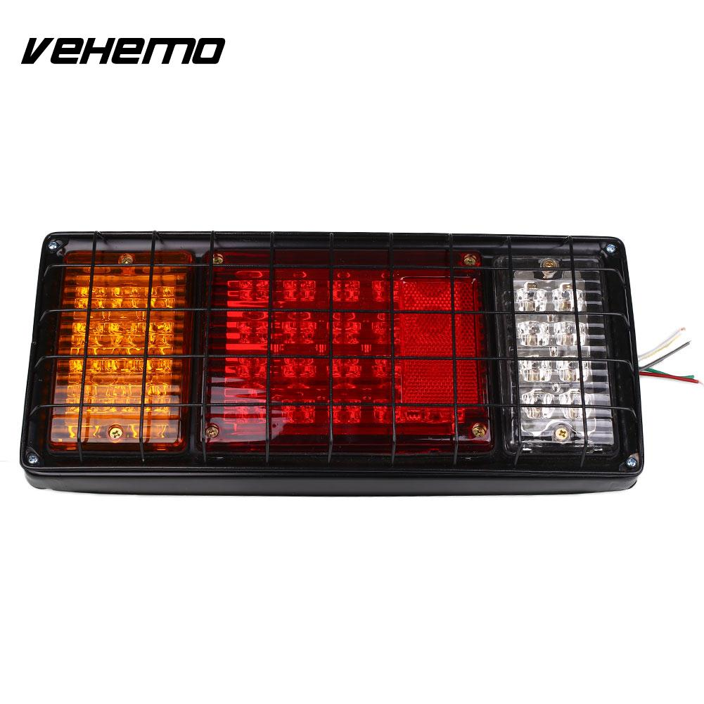 24V 40LED Trailer Tail Light Red Stop Reverse Indicator Lamp Truck Lorry Car Van<br>